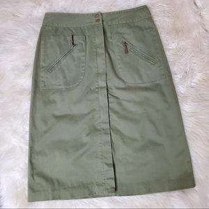 Christopher & Banks knee length green skirt
